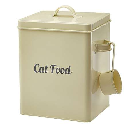 Cat Food Storage Tin Happy Beaks