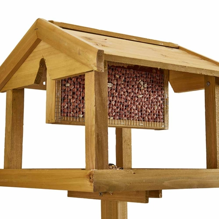 Nature/'s Market Wooden Bird Table with Nut Feeder