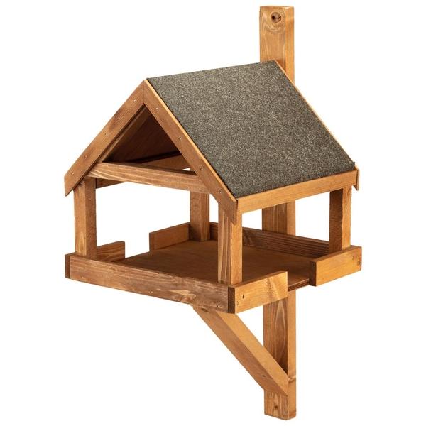 Wall Mounted Wooden Bird Table Happy Beaks