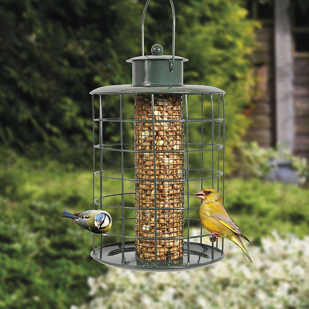 squirrel proof bird feeders twin pack happy beaks. Black Bedroom Furniture Sets. Home Design Ideas